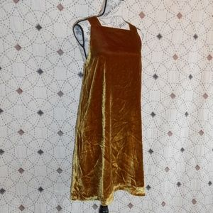 NWT Loft Golden Velour Lined Shift Dress L